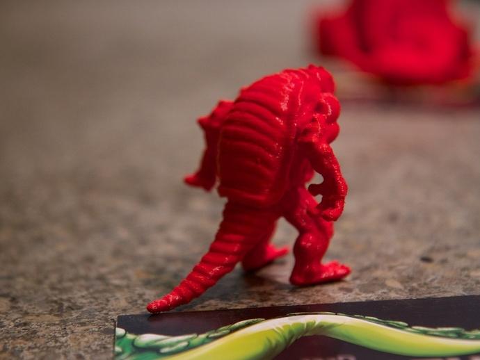 装甲怪兽 3D打印模型渲染图