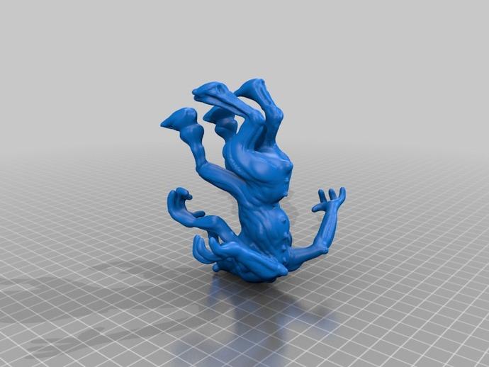 大象怪兽 3D打印模型渲染图