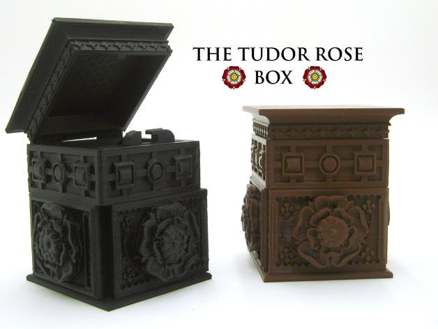 都铎王朝的玫瑰框(秘密锁) 3D打印模型渲染图