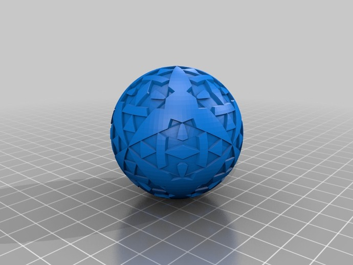 八面体对称图形 小球