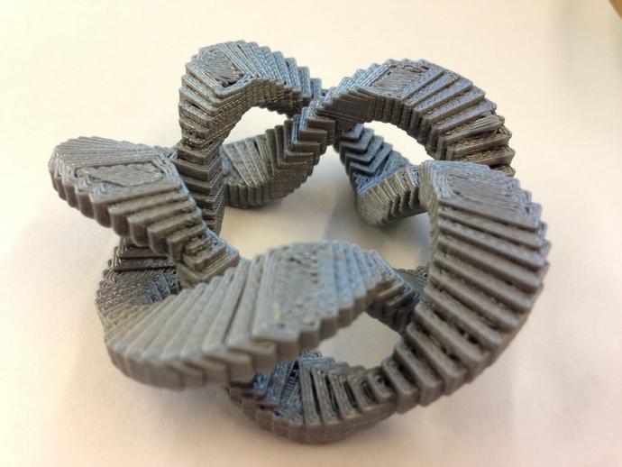 五边形立体环 3D打印模型渲染图