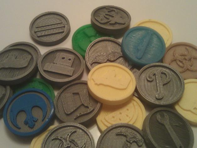 硬币 3D打印模型渲染图