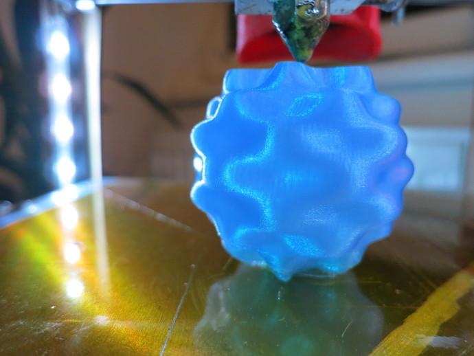 球谐函数形状 圣诞球 3D打印模型渲染图