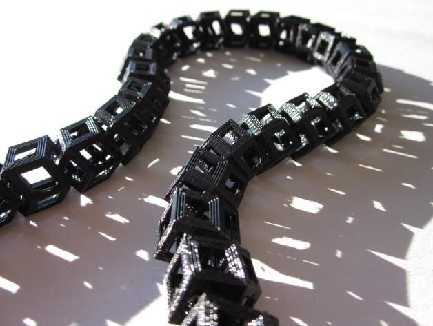 Dodeca圆环链 3D打印模型渲染图