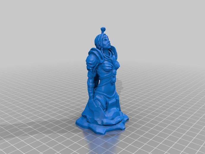 骑士 3D打印模型渲染图