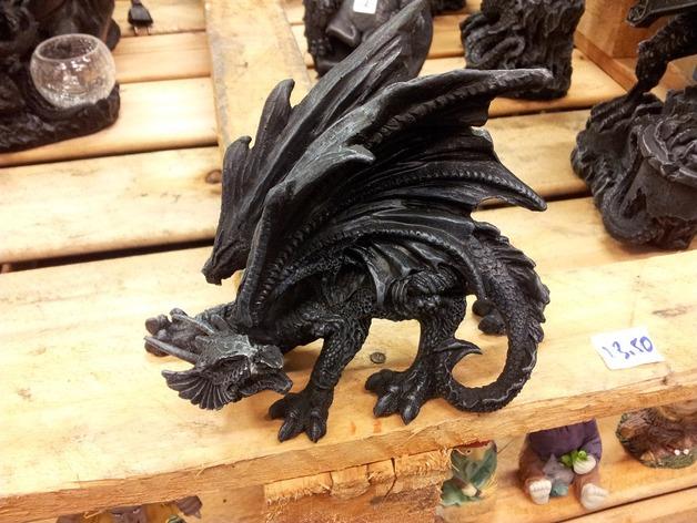 黑龙 3D打印模型渲染图