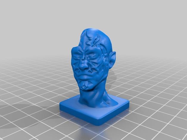 丧尸 雕像模型