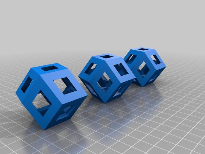 菱形十二面体手链