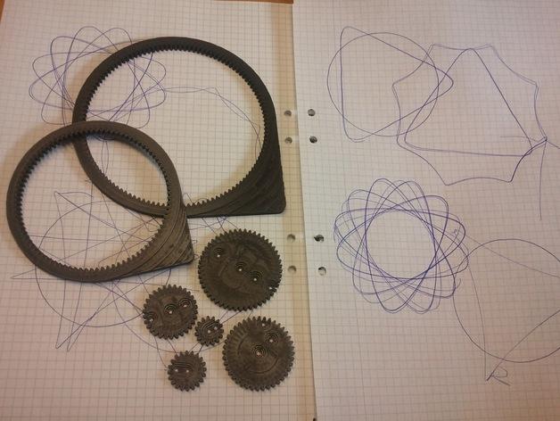齿轮画图器 3D打印模型渲染图