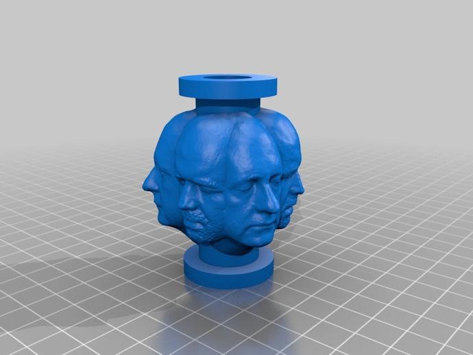人头项链 3D打印模型渲染图