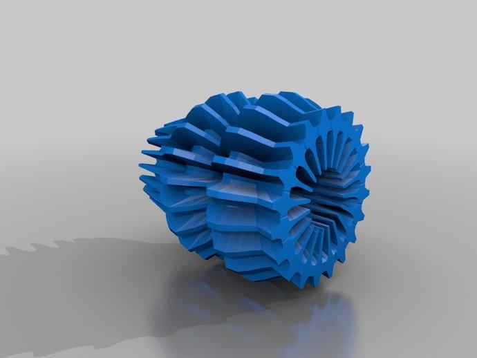 变形的球面谐波 几何体 3D打印模型渲染图