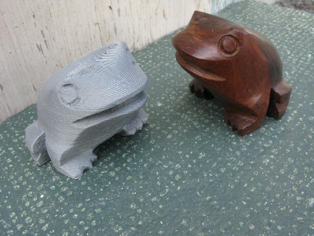 木蛙 大理石猫 3D打印模型渲染图
