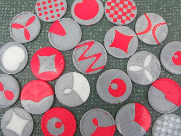 装饰性的磁盘 3D打印模型渲染图