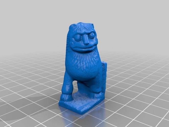 印度2世纪的狮子 模型 3D打印模型渲染图