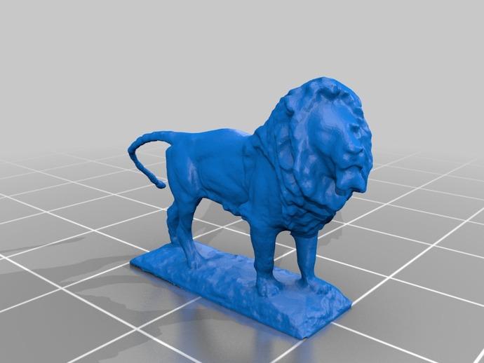 狮子雕像  3D打印模型渲染图