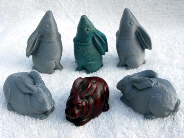 纪念品:兔子 3D打印模型渲染图