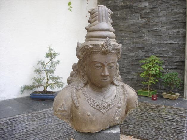 印尼佛像雕塑 3D打印模型渲染图