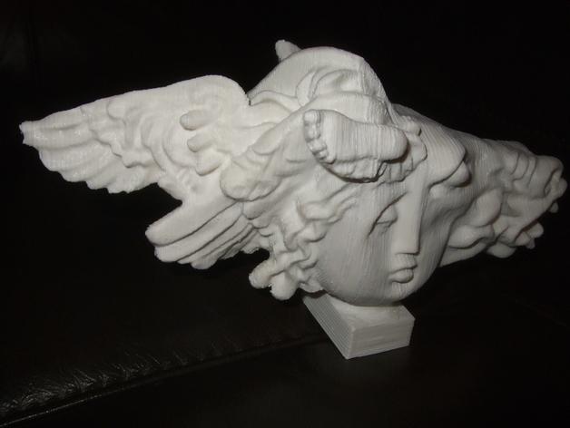 《飞马座的诞生》雕塑 3D打印模型渲染图