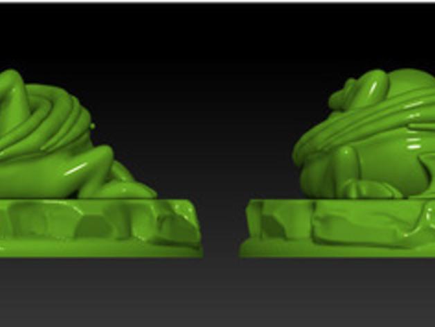 怪物宠物雕塑