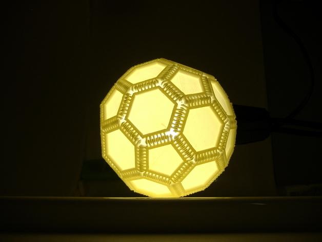 多边形镂空小球 3D打印模型渲染图