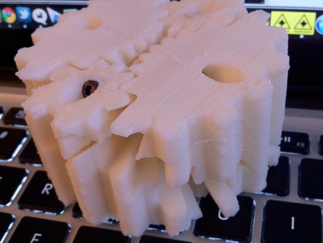 圆柱形齿轮 3D打印模型渲染图