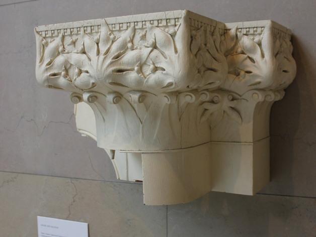 会堂大楼柱头和檐壁 3D打印模型渲染图