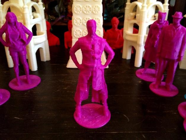 帕特里克塑像 3D打印模型渲染图