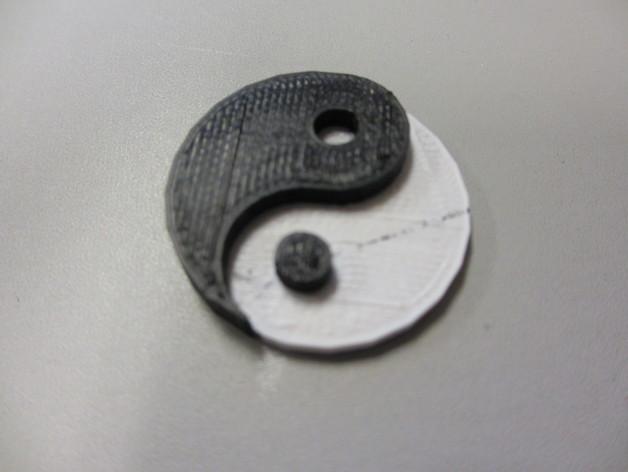 阴阳 3D打印模型渲染图