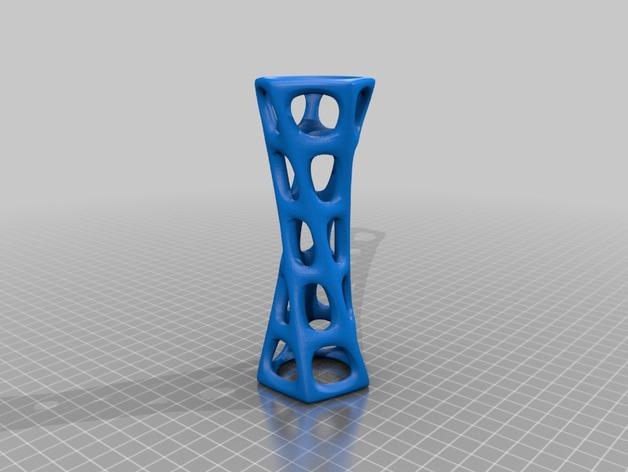 镂空圆柱体 3D打印模型渲染图