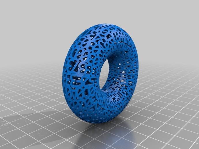 手环 3D打印模型渲染图