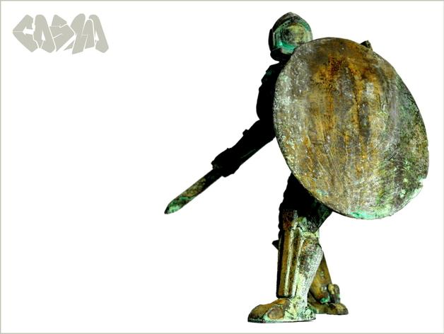 宇航员角斗士 3D打印模型渲染图