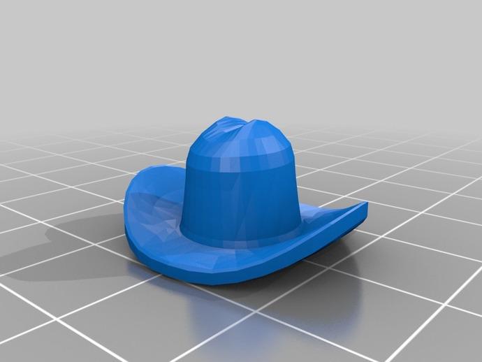 牛仔帽 3D打印模型渲染图