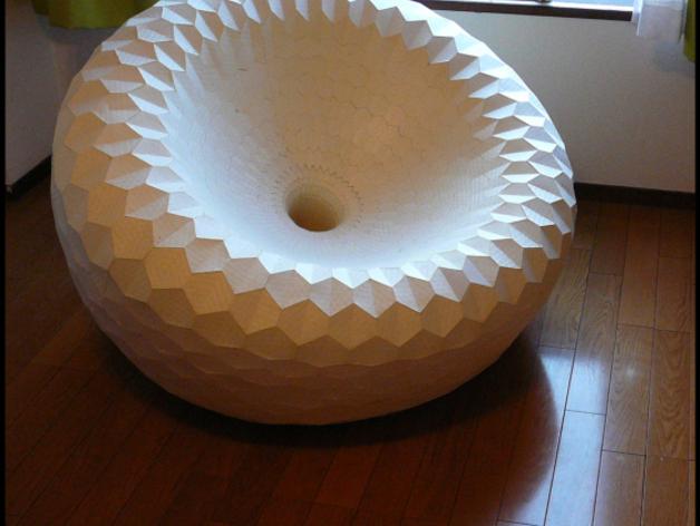 圆椅 3D打印模型渲染图