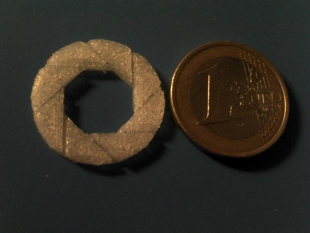 光圈科学标志 3D打印模型渲染图