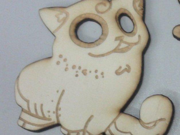 激光切割制作 小猫