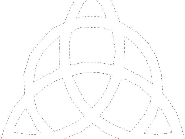 三角形图案装饰品