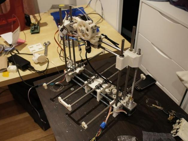 Printrbot 3D打印机双杆固定架 3D打印模型渲染图