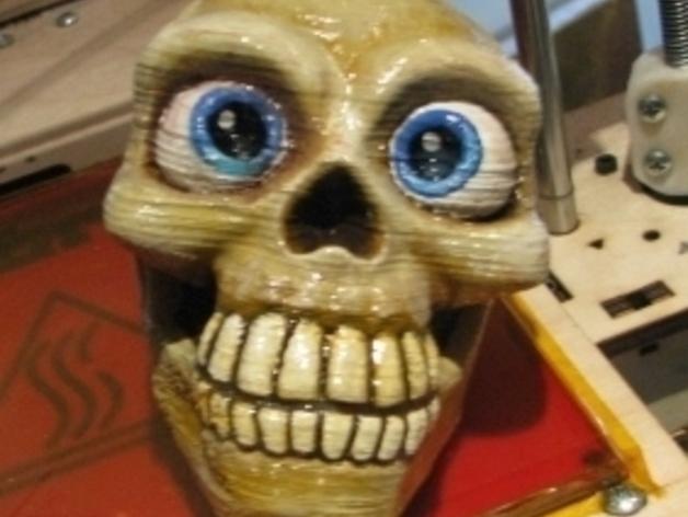 骷髅头骨 3D打印模型渲染图