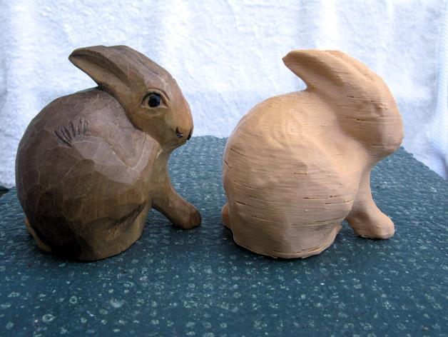 兔子雕塑 3D打印模型渲染图