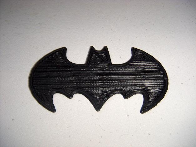 蝙蝠侠 标志 3D打印模型渲染图