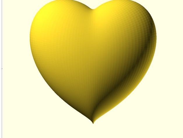 心形饰品 3D打印模型渲染图