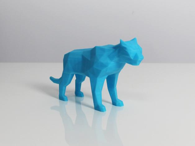 老虎 模型 3D打印模型渲染图