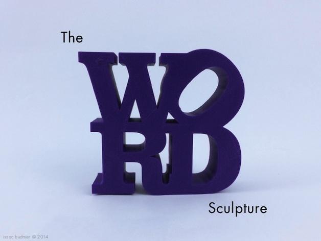 字母 雕塑模型