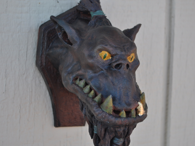 兽人 墙壁挂钩  3D打印模型渲染图