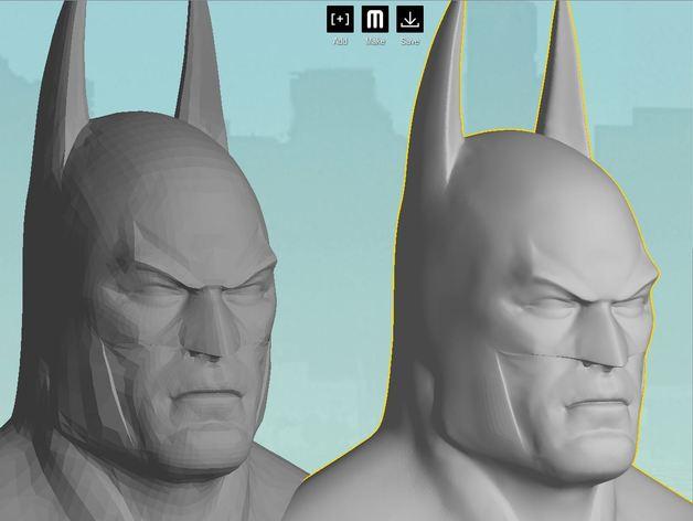 蝙蝠侠 半身像 3D打印模型渲染图