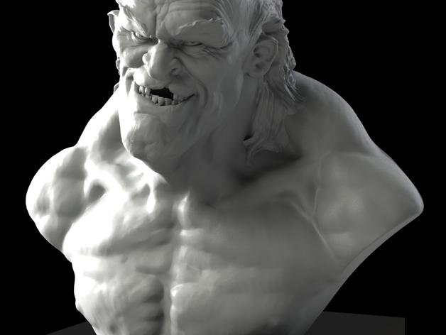 老怪物 雕像