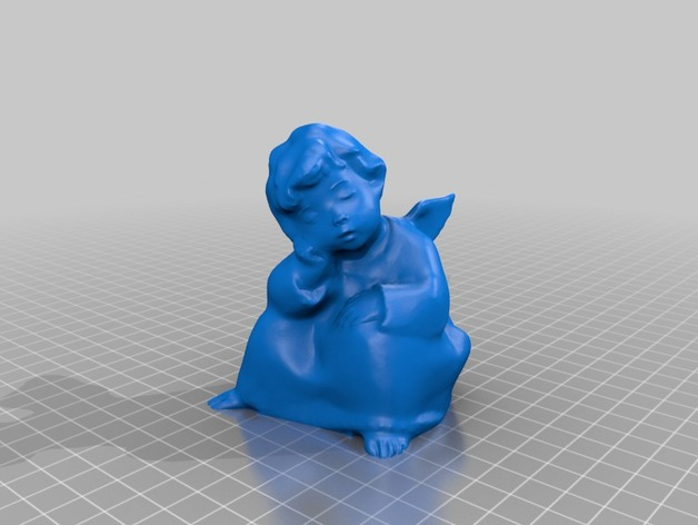 打盹的天使 模型 3D打印模型渲染图