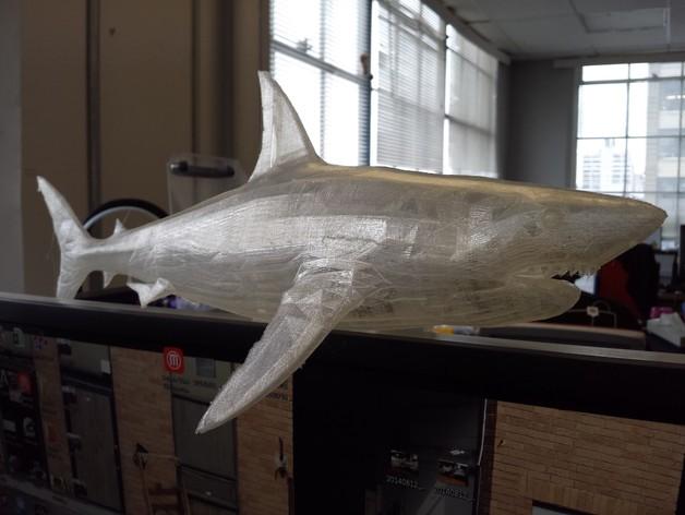 大白鲨 模型 3D打印模型渲染图
