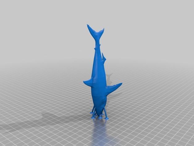 大白鲨 模型