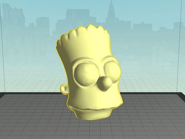 巴特 头像模型 3D打印模型渲染图